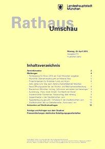 Rathaus Umschau 73 / 2015