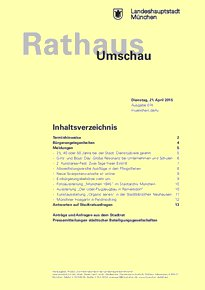 Rathaus Umschau 74 / 2015