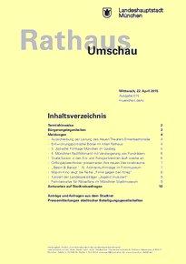 Rathaus Umschau 75 / 2015