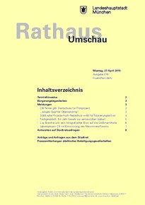 Rathaus Umschau 78 / 2015