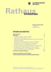 Rathaus Umschau 79 / 2015