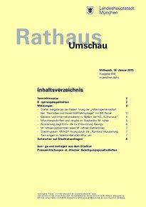 Rathaus Umschau 8 / 2015