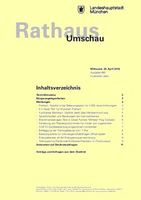 Rathaus Umschau 80 / 2015