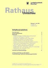 Rathaus Umschau 104 / 2016
