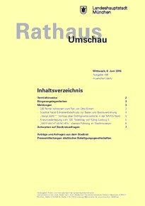 Rathaus Umschau 106 / 2016