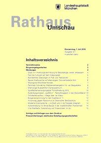 Rathaus Umschau 127 / 2016