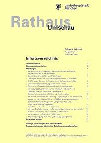 Rathaus Umschau 128 / 2016