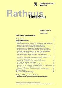 Rathaus Umschau 138 / 2016