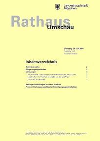 Rathaus Umschau 140 / 2016