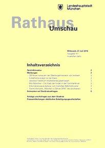 Rathaus Umschau 141 / 2016