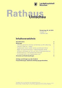 Rathaus Umschau 142 / 2016