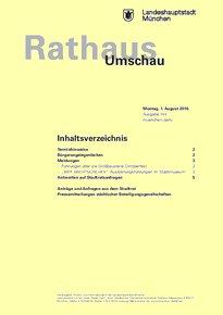 Rathaus Umschau 144 / 2016