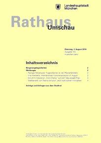 Rathaus Umschau 145 / 2016