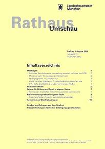 Rathaus Umschau 148 / 2016