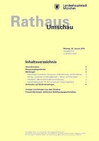 Rathaus Umschau 15 / 2016