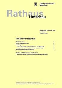Rathaus Umschau 152 / 2016