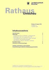 Rathaus Umschau 153 / 2016