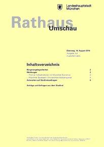 Rathaus Umschau 154 / 2016