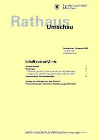 Rathaus Umschau 156 / 2016