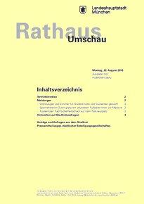 Rathaus Umschau 158 / 2016