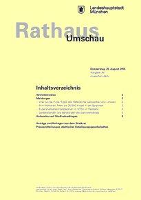Rathaus Umschau 161 / 2016