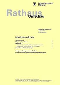 Rathaus Umschau 163 / 2016