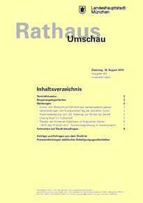 Rathaus Umschau 164 / 2016