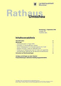 Rathaus Umschau 166 / 2016