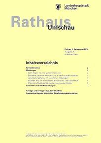 Rathaus Umschau 167 / 2016