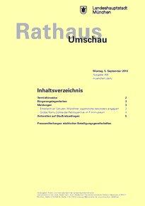Rathaus Umschau 168 / 2016