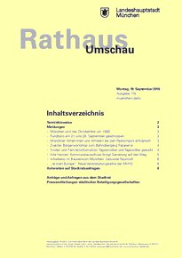 Rathaus Umschau 178 / 2016