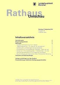 Rathaus Umschau 184 / 2016