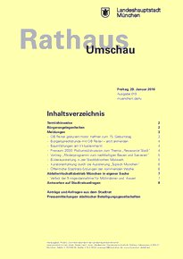 Rathaus Umschau 19 / 2016
