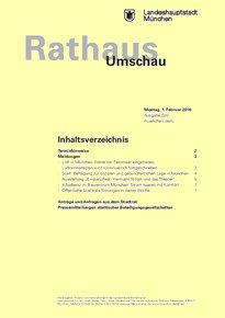 Rathaus Umschau 20 / 2016