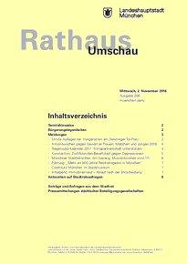 Rathaus Umschau 208 / 2016