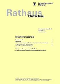 Rathaus Umschau 21 / 2016