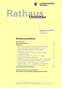 Rathaus Umschau 210 / 2016