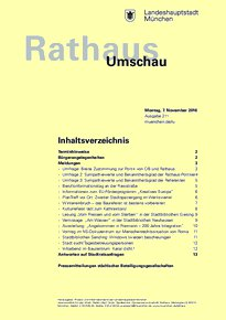 Rathaus Umschau 211 / 2016