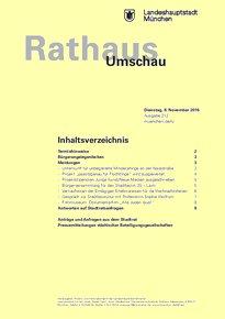 Rathaus Umschau 212 / 2016