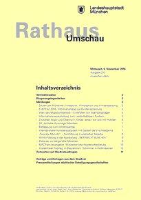 Rathaus Umschau 213 / 2016
