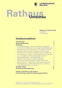 Rathaus Umschau 218 / 2016