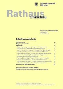 Rathaus Umschau 219 / 2016