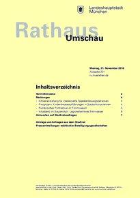 Rathaus Umschau 221 / 2016