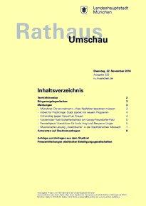 Rathaus Umschau 222 / 2016