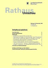 Rathaus Umschau 226 / 2016