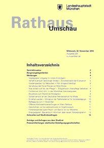 Rathaus Umschau 228 / 2016