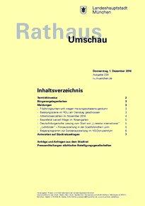 Rathaus Umschau 229 / 2016
