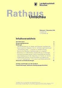 Rathaus Umschau 233 / 2016