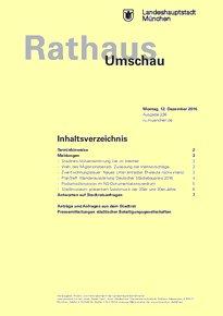 Rathaus Umschau 236 / 2016