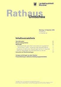 Rathaus Umschau 237 / 2016